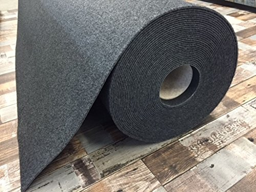 Autoteppich zur Auskleidung, Meterware in beliebiger Größe - Qualität Hit anthrazit (1m x 2m Breite)