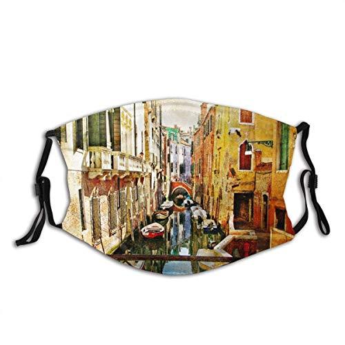 Bufanda facial, increíble Venecia Italia obras de arte en la pintura estilo protector bucal resistente al viento para motociclismo, ciclismo, hombres y mujeres