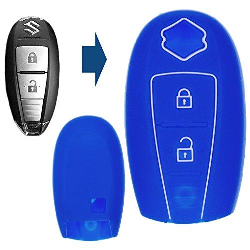 Soft Case Funda Protectora Llave del Coche Smartkey Azul Suzuki Swift Vitara Ignis Jimny Baleno SX4