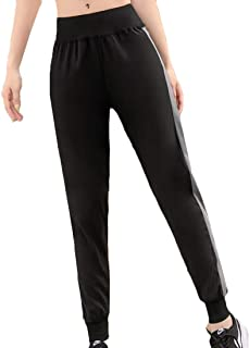 Inlefen Women's Sports Trousers Casual Pants Quick-Drying Fashion Loose Leisure Ladies Yoga Pants