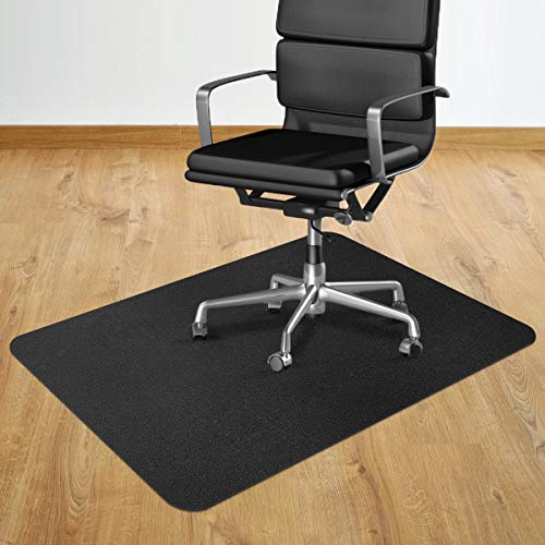 """2020 New Office Chair Mat, 36"""" x 48"""" Office Desk Chair Mat for Hardwood Floor, Multi-Purpose Rectangular Non-Toxic Plastic Protector Chair Carpet for Rolling Chair & Computer Desk (Black New 2020)"""
