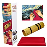 Joocyee Puzzle Mat Roll Up For Jigsaw Puzzles hasta 2000Pieces Jigsaw Puzzles Roll Up Mat, Jigsaw Puzzles 300 Piezas, Rojo