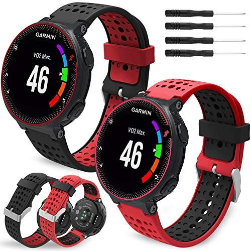 Th-some Correa para Garmin Forerunner 235 - Compatible con Forerunner 735XT Correa de Reloj, Pulsera de Reemplazo Silicona Suave Sports Banda para Forerunner 220, 230, 620, 630 y 735XT Smart Watch