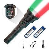 Brinyte T28 Taktische Taschenlampe für Jagd mit 3 Lichtarten des Sofortschalters, fokusierbare Taschenlampe Fackel mit stufenlosem Dimmer für Jagd. Mit 2 wiederaufladbare Batterien und 1 Fernbedienung