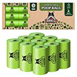 Pogi's Compostable Poop Bags - 9 Rolls (135 Bags) - Leak-Proof, Extra-Large, Plant-based, ASTM D6400 Certified Home Compostable & Biodegradable Waste Bags for Dogs 9