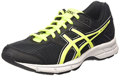 ASICS Unisex-Kinder Gel-Galaxy 8 Gs Laufschuhe, Schwarz (Black/Flash Yellow/White 9007), 39.5 EU