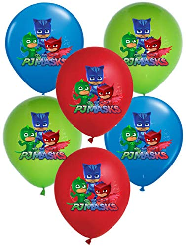 """Vision Pj Masks 12"""" Party Balloons 30 Pcs, Colorful Catboy Gekko Owlette Premium Latex"""
