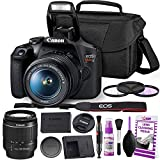 Canon Rebel T7 DSLR Camera with 18-55mm Lens Kit and Carrying Case, Creative Filters, Cleaning Kit, and More (Renewed)