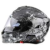 Viper RSV171 BL+ 3.0 Motorcycle Helmet Skull Black Flip Up Modular ECE Approved Bluetooth Bike...