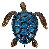YARNOW Arte de La Pared de Tortuga de Mar de Metal Decoración de La Pared de La Vida Aire Libre Arte de Animales de Mar Escultura de Metal de La Pared