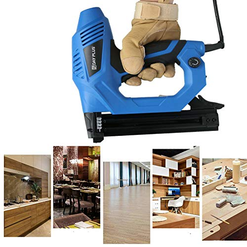 Electric Brad Nailer, 1080W 18-Gauge Electric Nail Gun/Staple Gun for DIY Project of Upholstery, Carpentry and Woodworking, Including Staples and Nails