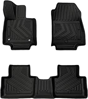 Aiqiying RAV4 Floor Mats - Compatible with 2019-2021 Toyota RAV4 Accessories, All Weather Protection TPE Black Durable Front&Back Seat 2 Rows Fully Cover Floor Liners Custom (No Hybrid one)