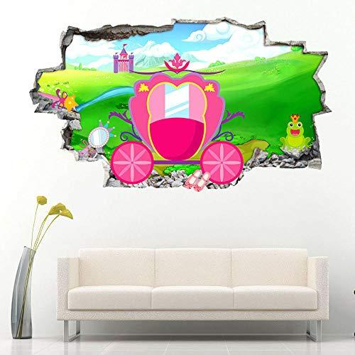 Wall Sticker Princess Carriage Magic Wand Wall Stickers Bedroom Girls Boys Living Kids