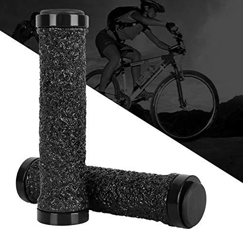 Apretones de Manillar de Bicicleta, 1 par apretones de Bicicletas Suave Antideslizante apretones de Manillar de Bicicleta Extremos de Cristal de Silicona Piezas de Bicicletas empuñadur