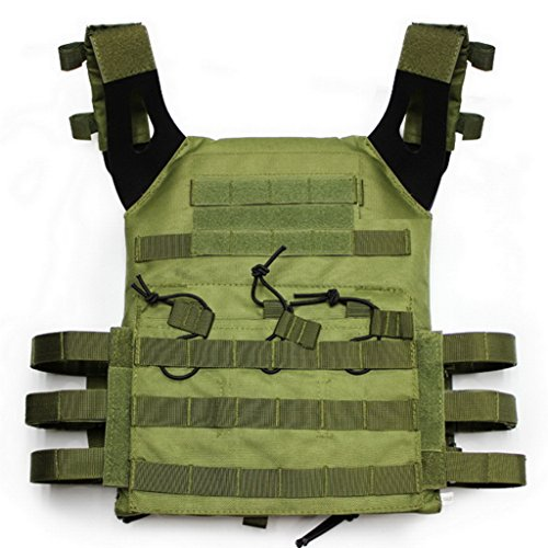 alexsport JPC MOLLE TACTICAL WESTE Plate Carrier für Airsoft Paintball CS, OD