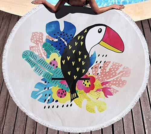SCVBLJS Toalla De Playa Cute Tucan Print Yoga Mat Chal Bufanda Tapiz Mantel Picnic Manta Chal Adulto Niño Toalla