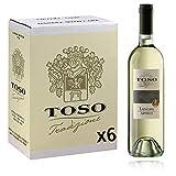 Toso S.p.a Toso Vino Bianco Langhe DOC Arneis, Piemonte, 6 bottiglie, 6 x 750ml...