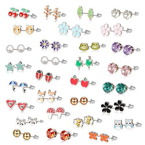 Aretes pendientes acero inoxidable estrella animal print diferentes colores 10 mm