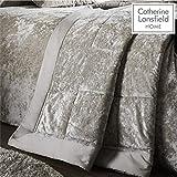 Catherine Lansfield – Tagesdecke für Doppelbett aus Knautschsamt-Imitat – Polyester, Polyester, Natur, 53 x 23 x 53 cm