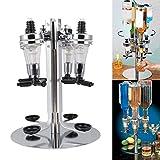 4 Bottle Rotating Stand, Rotating Drinks Dispenser, Bar Drinks Optics Set Revolving Liquor Spirit Dispenser, Premium Aluminium Rotary Design