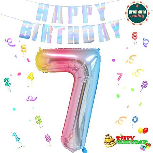 Folienballon Zahl in Farbe,Luftballon Zahlen,Riesige Folienballon,Zahl Geburtstagsdeko,Geburtstag Dekoration bunt,Folienballon im Zahlen-Design,Party Supplies Folienballon im Zahlen-Design (7)