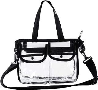 Clear Tote Bag Travel Handbag Women - Lady PVC Shoulder Bags Messenger Crossbody Bag Waterproof Cosmetic Bag for Beach Gym Swimming Shopping Pinic Casual