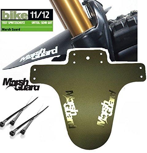 MARSH GUARD Mud MTB Face Fender Fahrrad Spritzschutz Schutzblech + F26 Sticker (Plus Logo Schwarz)