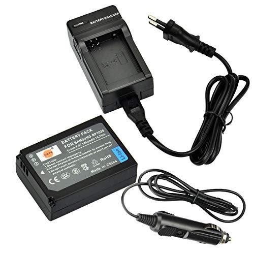 DSTE Repuesto Batería y DC124E Viaje Cargador kit para Samsung BP-1030NX200NX210NX300NX1000NX1100NX2000NX300M NX500Digital Cámara como BP1030BP1130ED-BP1030
