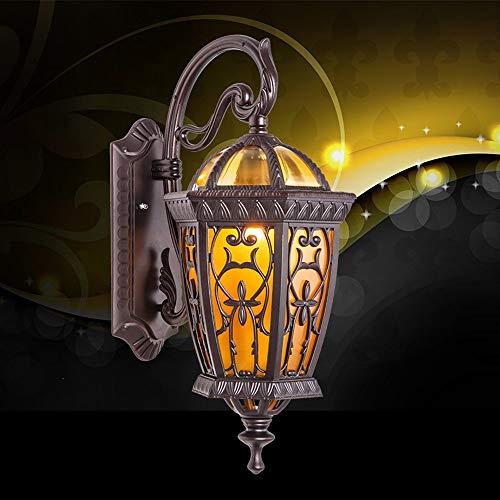 IUHUA Lámpara de Pared para Exteriores Retro Outdoor Ip55 Lámpara de Pared a Prueba de Agua Luces de Linterna de jardín Simple Creativo Vidrio Aluminio E27 Decoración Iluminación Luz de Calle