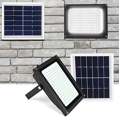 Zonne-verlichting Zonne-verlichting, 150 LED IP65 Waterdichte buitenlamp op zonne-energie met bewegingsdetector en lichtsensor voor tuin, terras, terras
