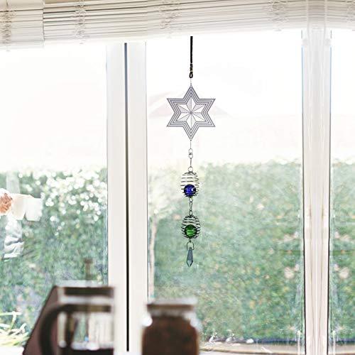 Fabater Outdoor-Qualität Geschenk Metall Musik Windspiel, schöne Ergänzung Metall Windspiel, Windspiele, für drinnen für Kinder für Dekoration für draußen(D)