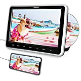 NAVISKAUTO ヘッドレストモニター dvd内蔵 スロットイン HDMI入力 スマホ同期 dvdプレーヤー 車載 10.1インチCPRM リージョンフリー USB SD AV-IN AV-OUT 18ヶ月保障