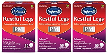 Hyland's Restful Legs PM Quick Dissolving Tablets - 50 Tablets, Pack of 3