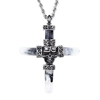 Amazon.es: Cruz Negra - Collares / Hombre: Joyería