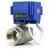 U.S. Solid 1' motorizzato valvola a sfera normalmente aperto DN25 acciaio inox valvola a sfera elettrica, 9-24V AC/DC, 2 fili, ritorno automatico, porta standard