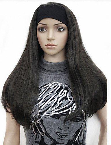 jiayy 3/4 Collants pelucas perruque de longues droits MMA avec la blonde perruque de cheveux synthétique de nombreux couleurs pour que Usted : Auburn
