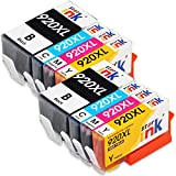 Starink Compatibile per HP 920 920XL Cartucce d'inchiostro per HP Officejet 6500 7000 6500A 6000 7500 7500A (2 Nero,2 Ciano,2 Magenta,2 Giallo) Confezione da 8
