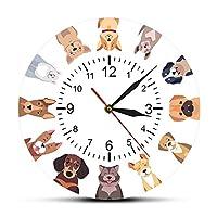 壁掛け時計フィッシュウィズバブルDiyジャイアントウォールクロックミラーエフェクトウォールアート家の装飾水族館の装飾フレームレスビッグニードルクロックウォッチ(ゴールド)47インチ
