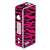Decal Sticker Skin WRAP Pink and Black Zebra Stripe Design for Sigelei 75W