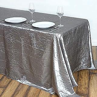BaiJaC Nappes de Table, 90x132 Pouces de Taffetas de Taffetas de Taffetas froissé de 90x132 Pouces de Table de Couverture ...