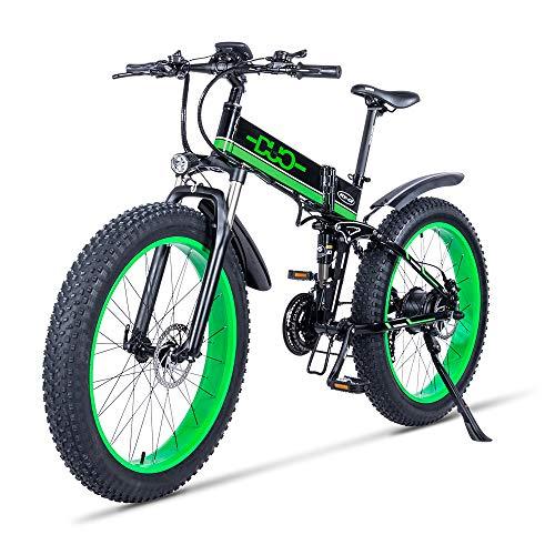 GUNAI 26 Pollici Bici da Neve Elettrica 1000 W 48V Pieghevole Grasso Pneumatico Mountain Bike MTB 21 velocità E-Bike Pedale Assist Idraulica Freno a Disco