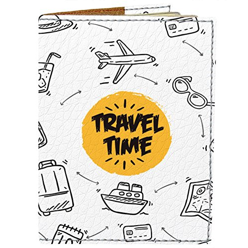 Passport Cover - Holder for Men Women Kids - Designer Vegan Leather Travel Case...