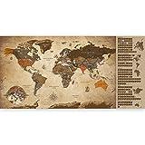 murando Rubbelweltkarte englisch XXL TOP AKTUELLE Weltkarte