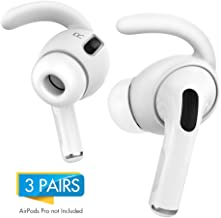 AhaStyle AirPods Pro Ear Hooks [Added Storage Pouch] Anti-Slip Ear Covers Accessories【Not Fit in The Charging Case】 Compatible with AirPods Pro (White)