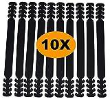 ELKHERBA® Maskenhalter [10 Stück] Maskenhaken Anti-rutsch Silikon Maskenband Gummiband Verlängerungsriemen für Ohrschutz 4 Gang Einstellbare Maskenhalterung für Erwachsene und Kinder (Schwarz)