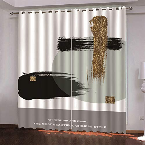 Nordic Modern Minimalist Curtains Household Items Wall Decoration Thickened Polyester Dirt-Resistant Sanitary Partition Curtain 2 Pieces