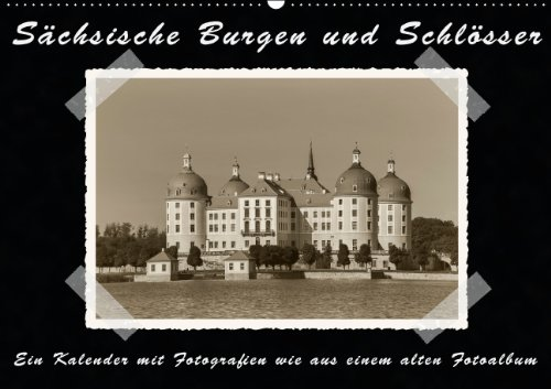 Sächsische Burgen und Schlösser (Wandkalender 2015 DIN A2 quer): Ein Kalender mit Fotografien wie aus einem alten Fotoalbum (Monatskalender, 14 Seiten)