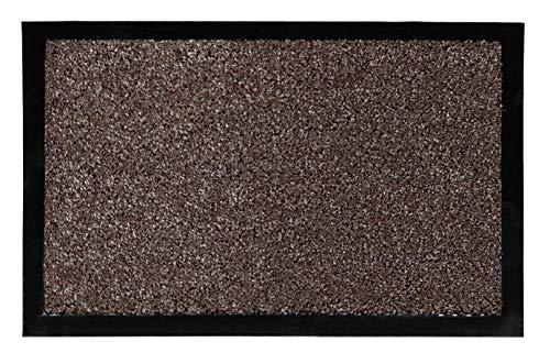 Fußmatte Nela für den Innenbereich - Türvorleger - Sauberlaufmatte - Fußabstreifer - Schmutzabstreifer - Fußabtreter, 40 x 60 cm, braun