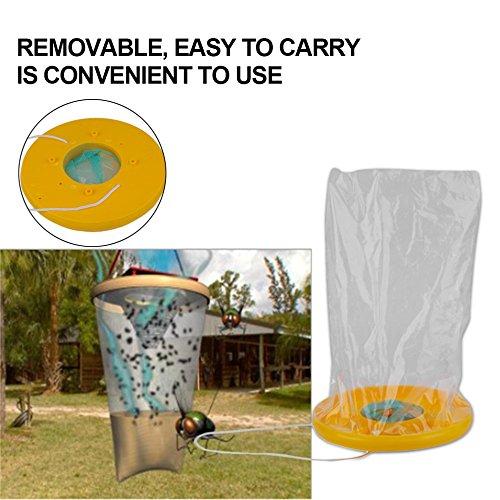 Sac à suspendre jetable avec piège à mouches pour le jardin et l'extérieur non toxiques