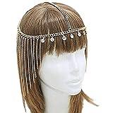 Fashband Rhienstone Tassel Headchain Boho Headband Nupcial T